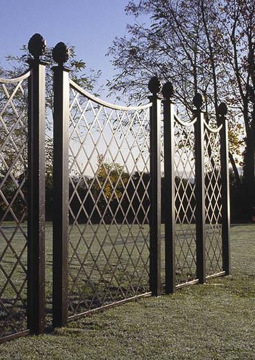 Kunstschmiede Zaun Paravent auf Golfplatz