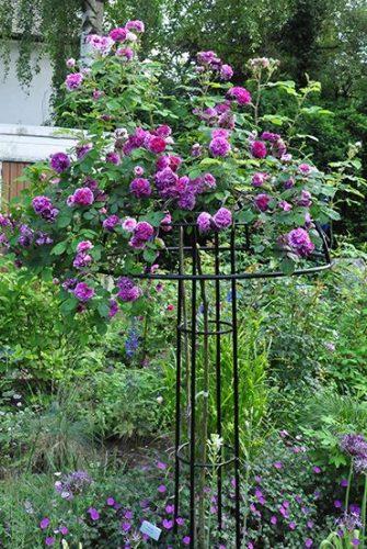 Rosenschirm Giverny aus Metall
