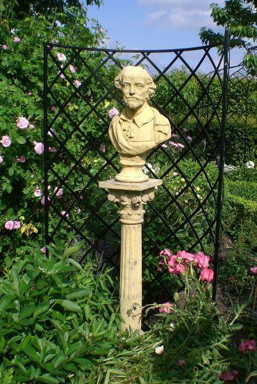 rosengitter exedra mit shakespeare büste