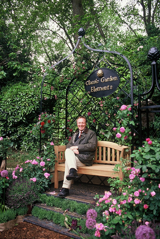 viktorianische Rosenlaube in Chelsea