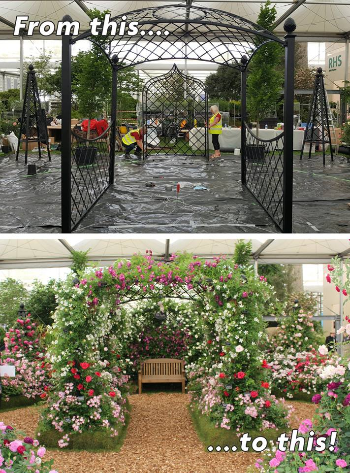 Aufbau Chelsea Flower Show 2018