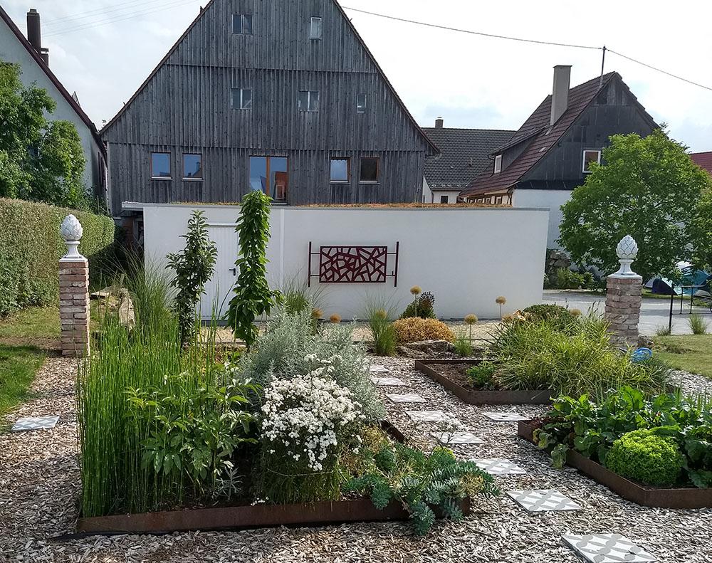 TORII, ein Wand Rankgitter aus Metall den Japangarten