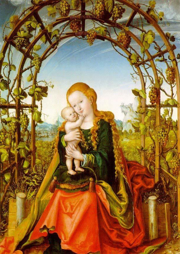 Madonna in the vine arbour Lucas Cranach
