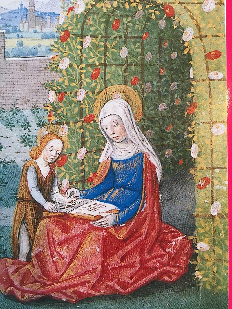 St Elisabeth in a Rose Arbour