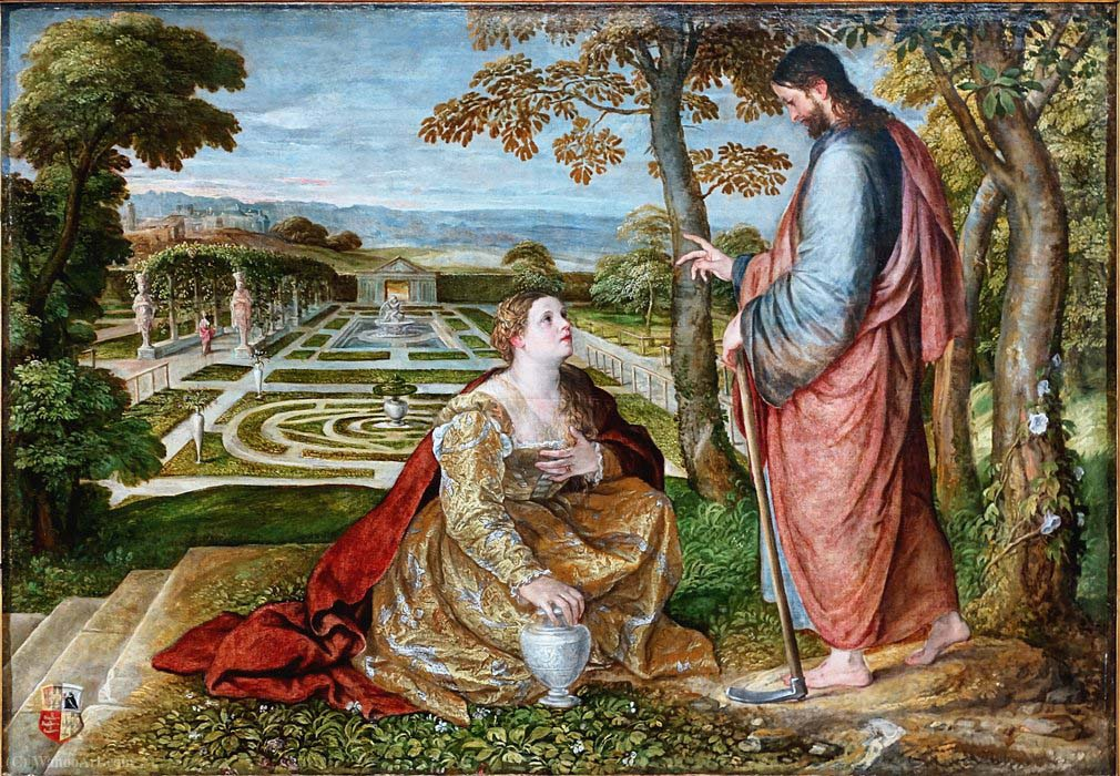 Painting by Lambert Sustris Noli Me Tangere Palais des Beaux-Arts in Lille