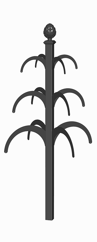 Vierflügeliger Rankobelisk aus Metall Hanniba