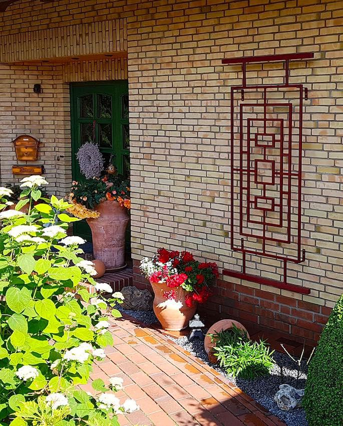 Chinesisches Rankgitter für den Garten aus Metall