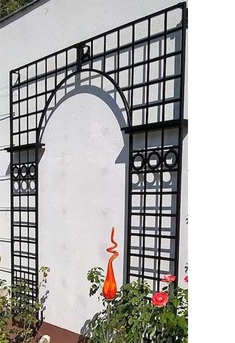 Gitterspalier Osborne House 228 x 200 cm Metall mit Bogen