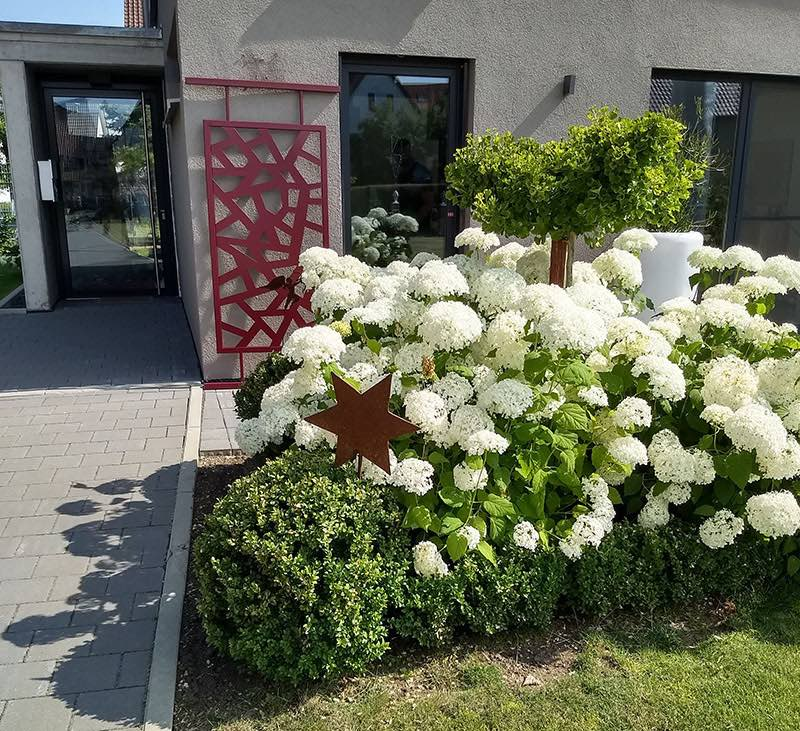 Japanisches rotes Rankgitter für Rosen 100 x 200 cm