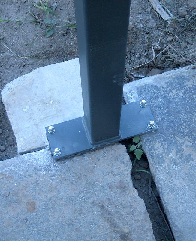 Metall Pergola Pfosten Befestigung Fundament