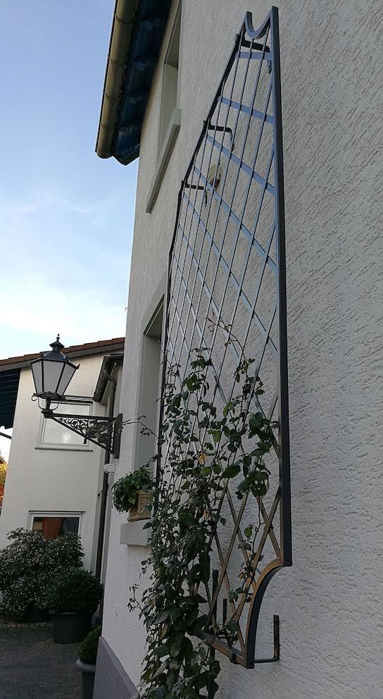 Metall-Wandspalier-Wollaton-in-Seitenansicht Schwarz