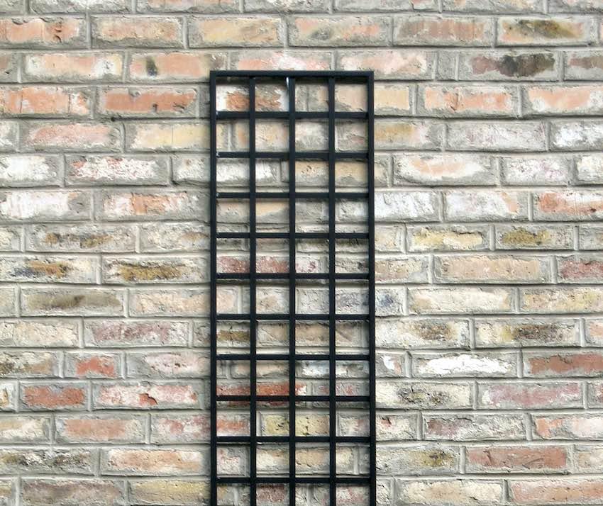 Rankgitter 150 x 40 cm Metall vierecke schwarz