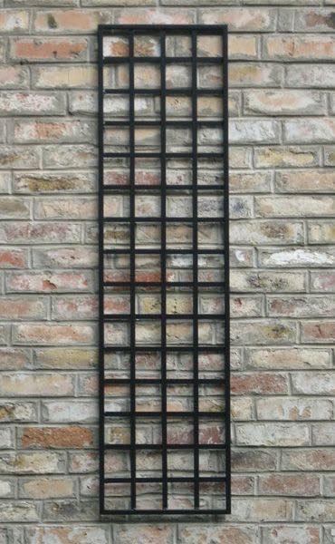 Rankgitter Bauhaus Style Metall schwarz