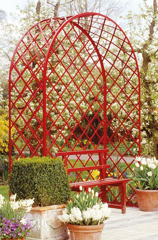 Rote Rosenlaube Metall in jeder Farbe möglich