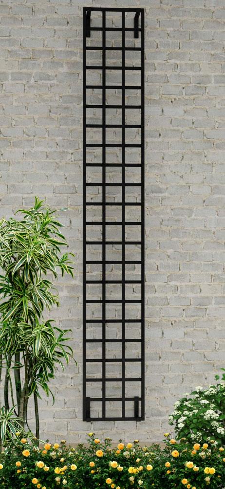 Schmales Metall Rankgitter im Bauhaus Design