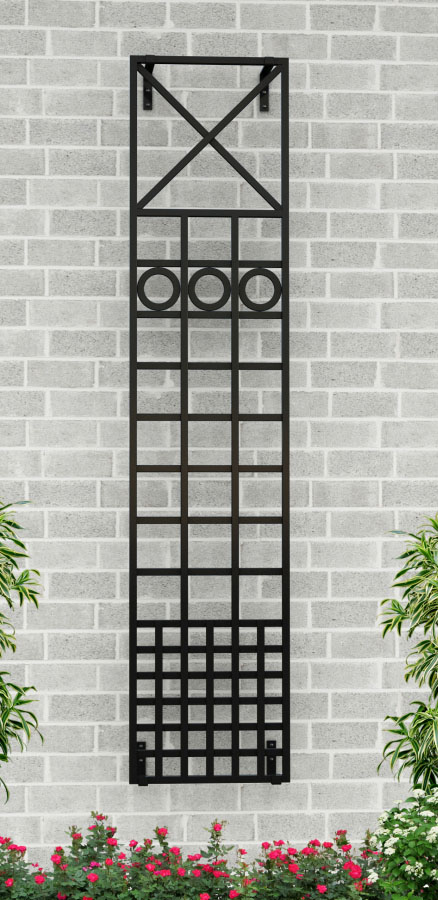 Treillage Rankgitter aus Stahl im Maß 44 x 200 cm