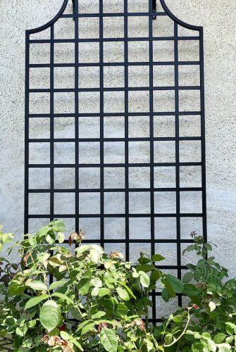 Wandspalier Wollaton aus Metall in Schwarz für Rosen