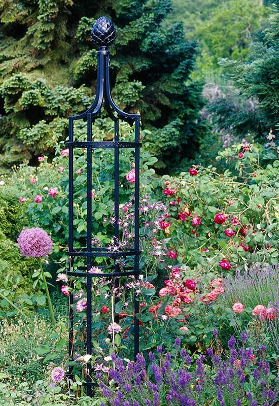 garten rosen obelisk i aus metall vom hersteller in bester. Black Bedroom Furniture Sets. Home Design Ideas