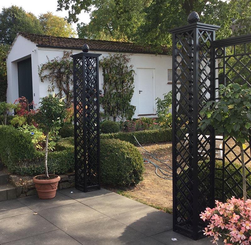 Exklusiver Kunstschmiede Zaun im Stil der Belle Époque