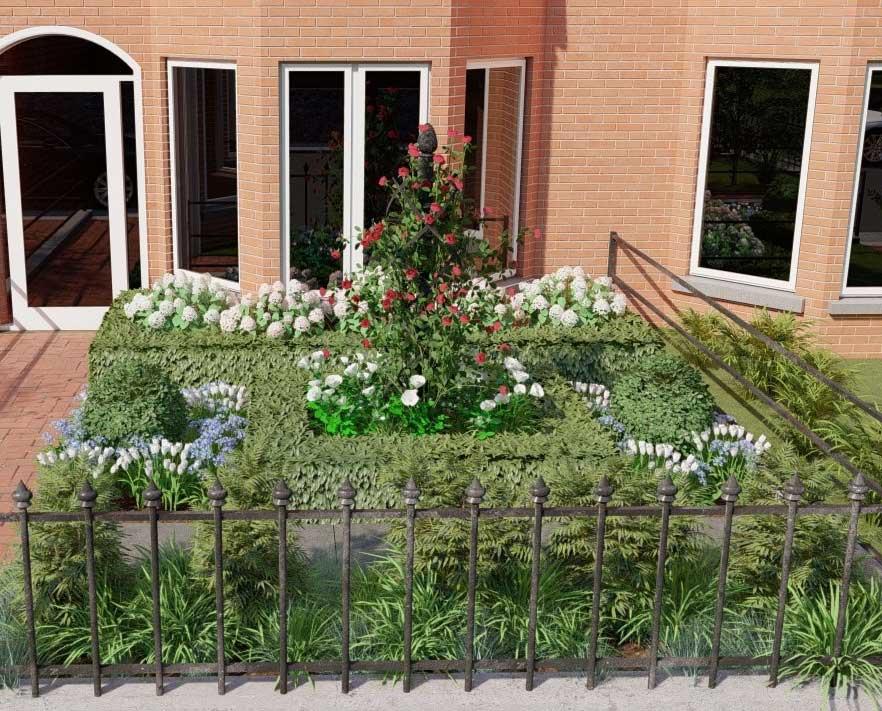 Gartengestaltung mit der Rosensäule Charleston (2)