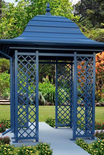 Gartenpavillon Wallingford in Fernblau RAL 5023