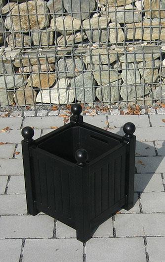 Kleiner Versailler Pflanzkübel aus Metall 40x32x32 cm Verzinkt & lackiert