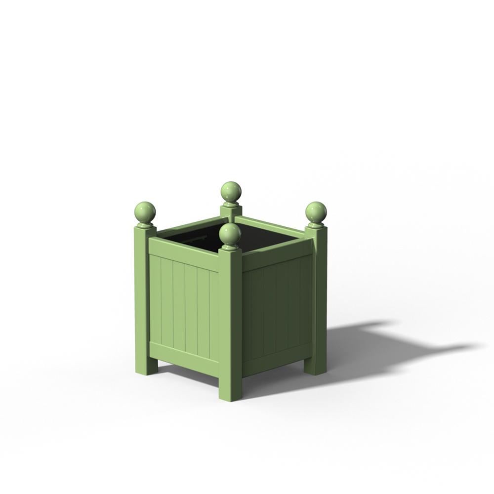 R16 Kleiner Versailler Pflanzkübel in RAL 6021 Pale Green