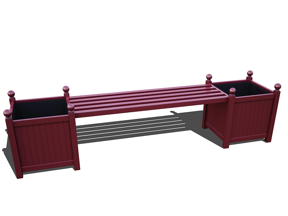 R23-B+2-Versailler Bank in RAL-3005 wine red