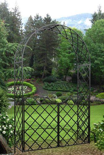 Romanischer Rosenbogen Bagatelle mit Gartentür