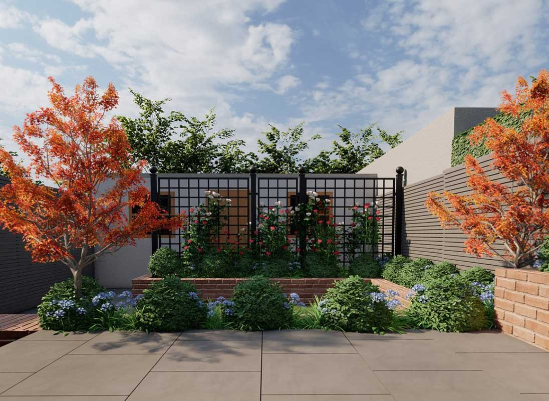 Trenngitter Bauhaus in der Gartengestaltung