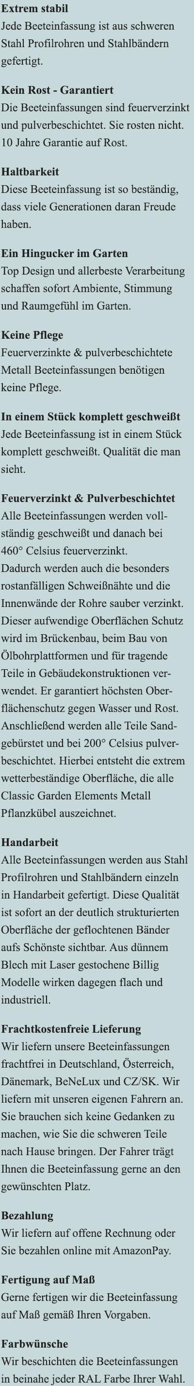 Vorteile der Beeteinfassung Zürich