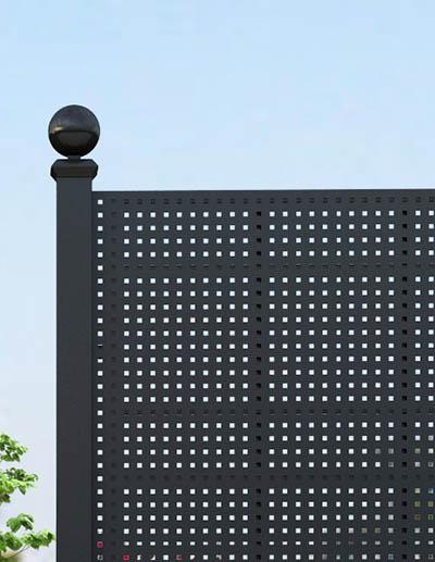 Gropius Sichtschutzzaun aus Stahl Detail