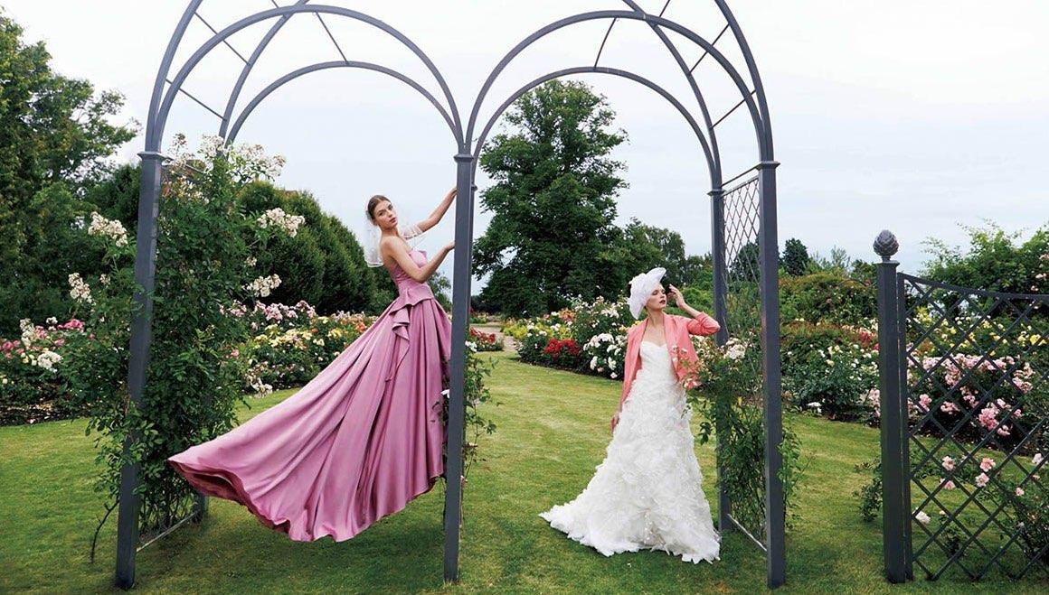 Hochzeits Rosenbogen aus Metall