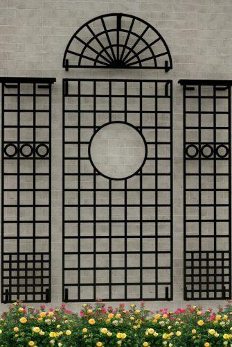Kunstschmiede Wandgitter Lamport Hall in 260 x 208 cm Größe
