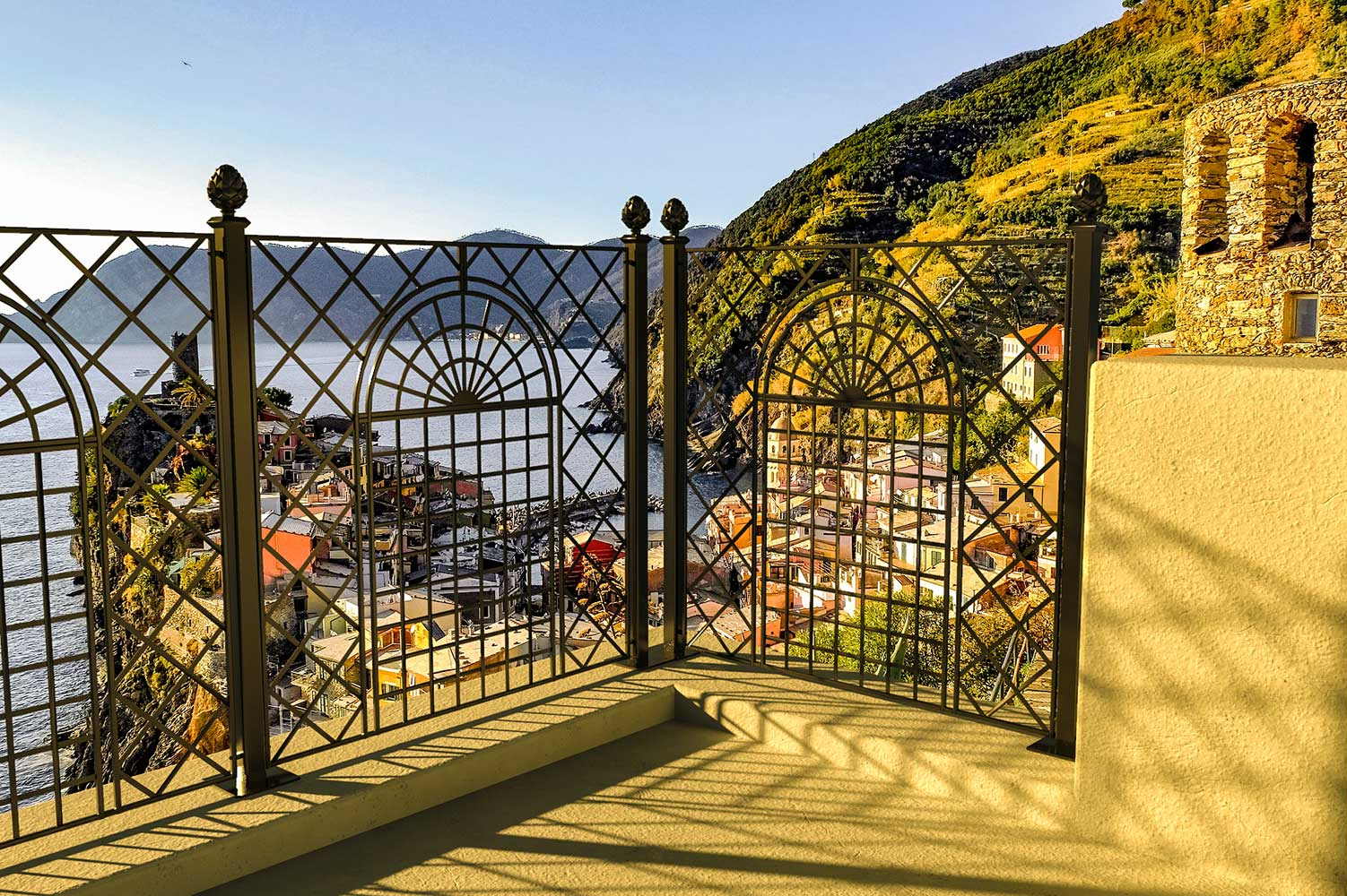 Kunstschmiede Zaun Orangerie Set (1)
