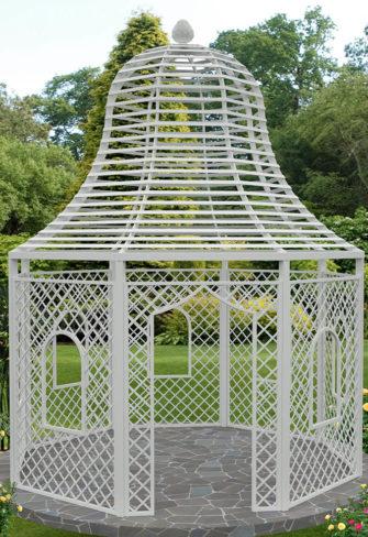 Rosenpavillon Zweibrücken aus Metall