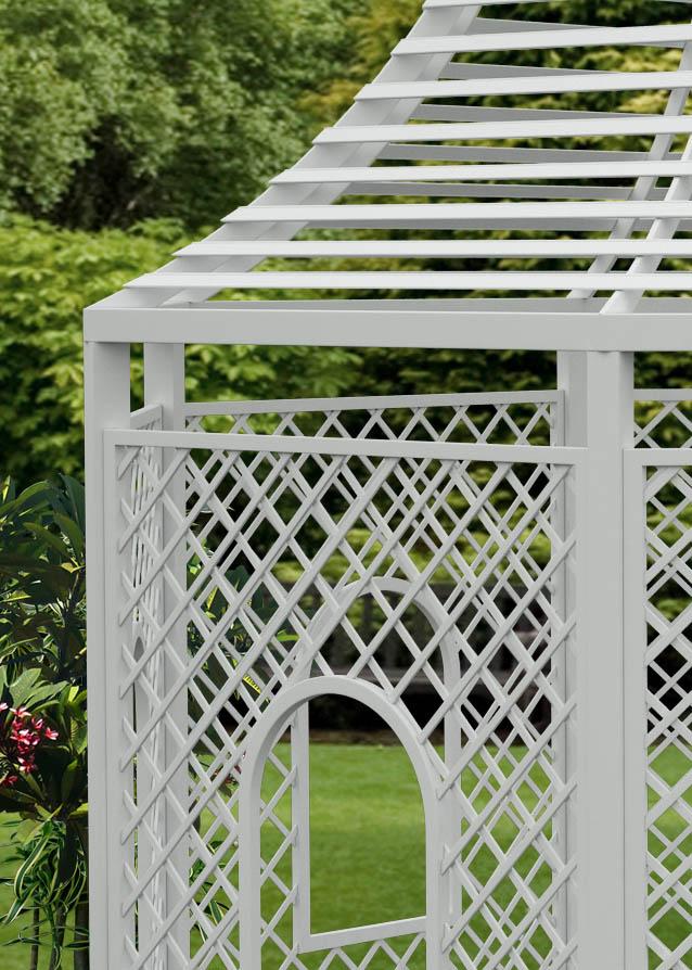 Rosenpavillon Zweibrücken aus Metall Detail