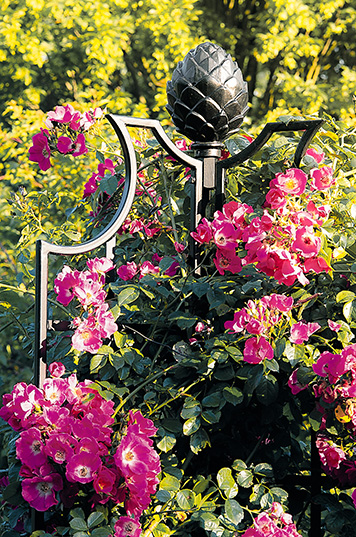 ranksaeulen garten obelisk-rosen classic garden elements
