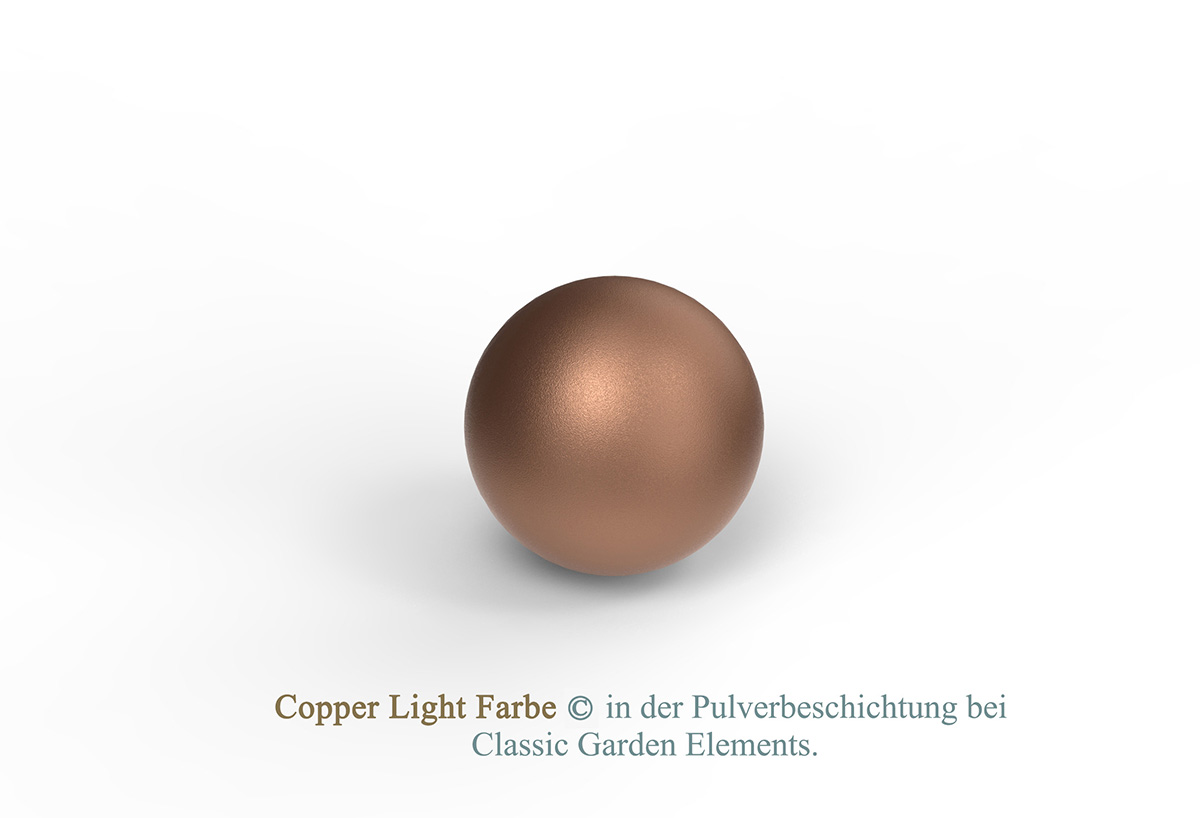 Copper Light Farbe in der Pulverbeschichtung bei Classic Garden Elements.