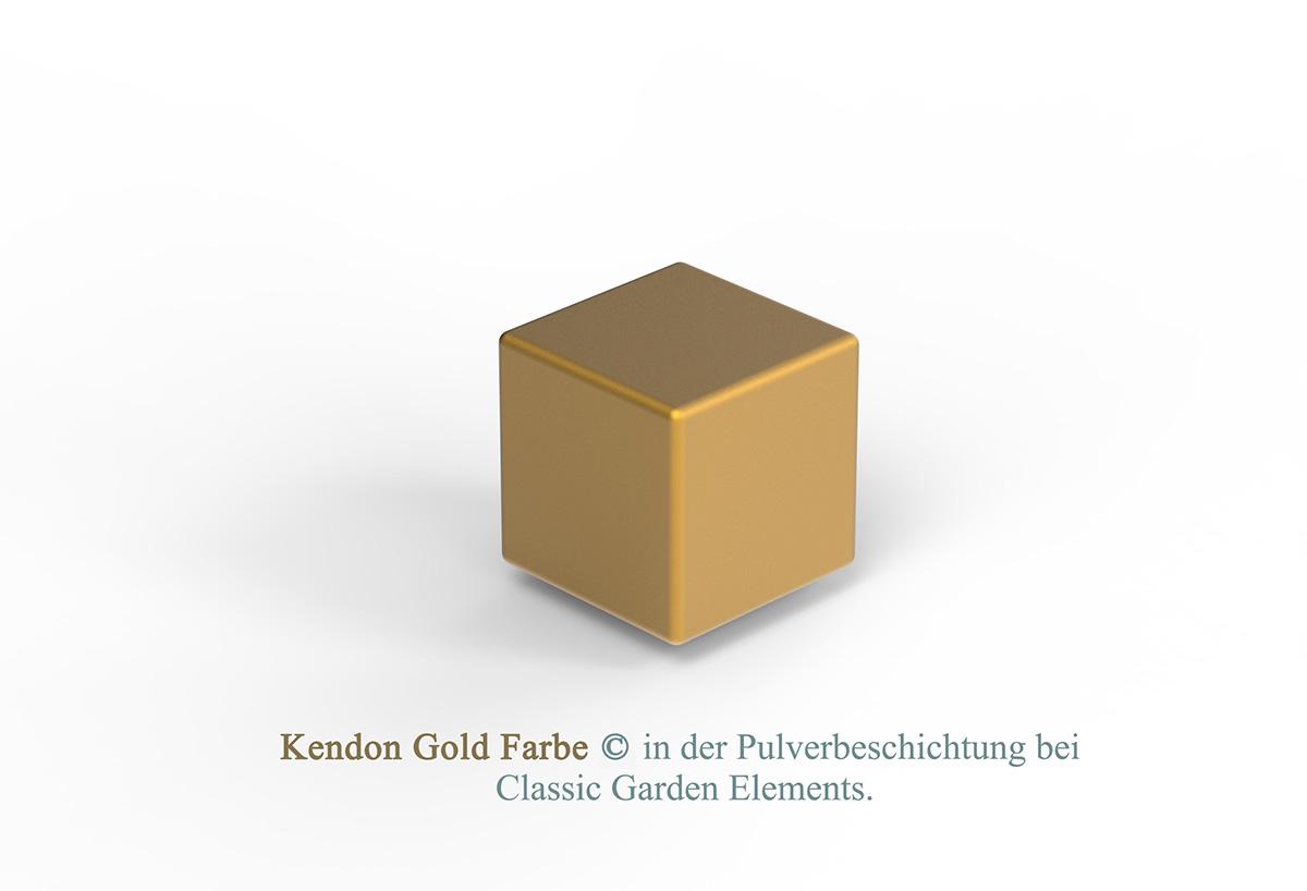 Kendon Gold Farbe in der Pulverbeschichtung bei Classic Garden Elements.