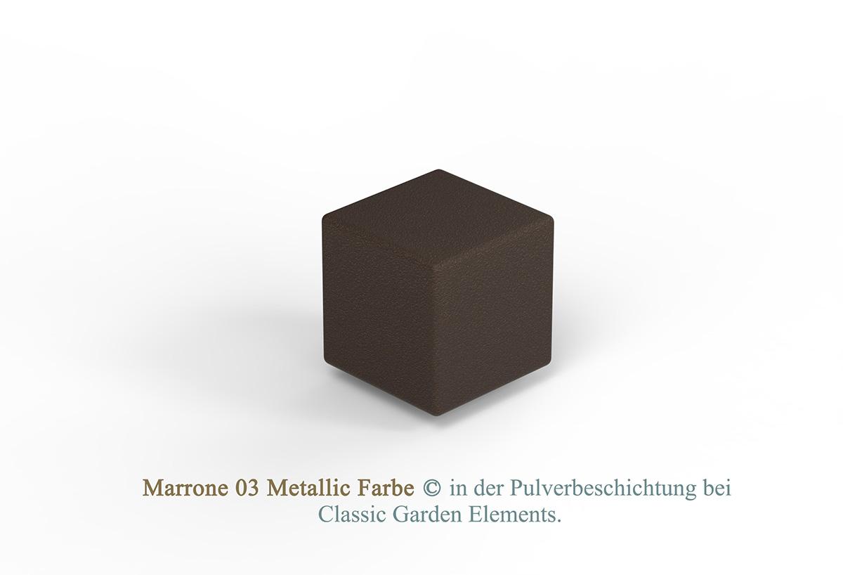 Marrone 03 Metallic Farbe in der Pulverbeschichtung bei Classic Garden Elements.
