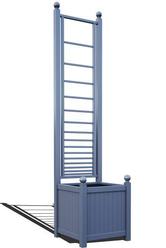 R23-A-PHL-Versailler Pflanzkübel mit Rankgitter in RAL-5014 pigeon blue