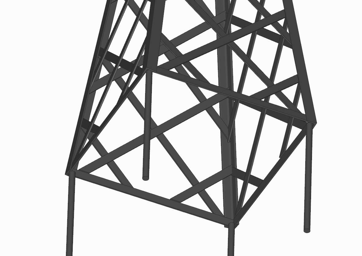 R23-PY-Y-Detail Versailler Pflanzkübel mit Rank Pyramide in RAL 9005 Schwarz