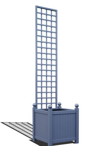 R23-Y-SHD-Versailler Pflanzkübel mit Rankgitter in RAL-5014 pigeon blue
