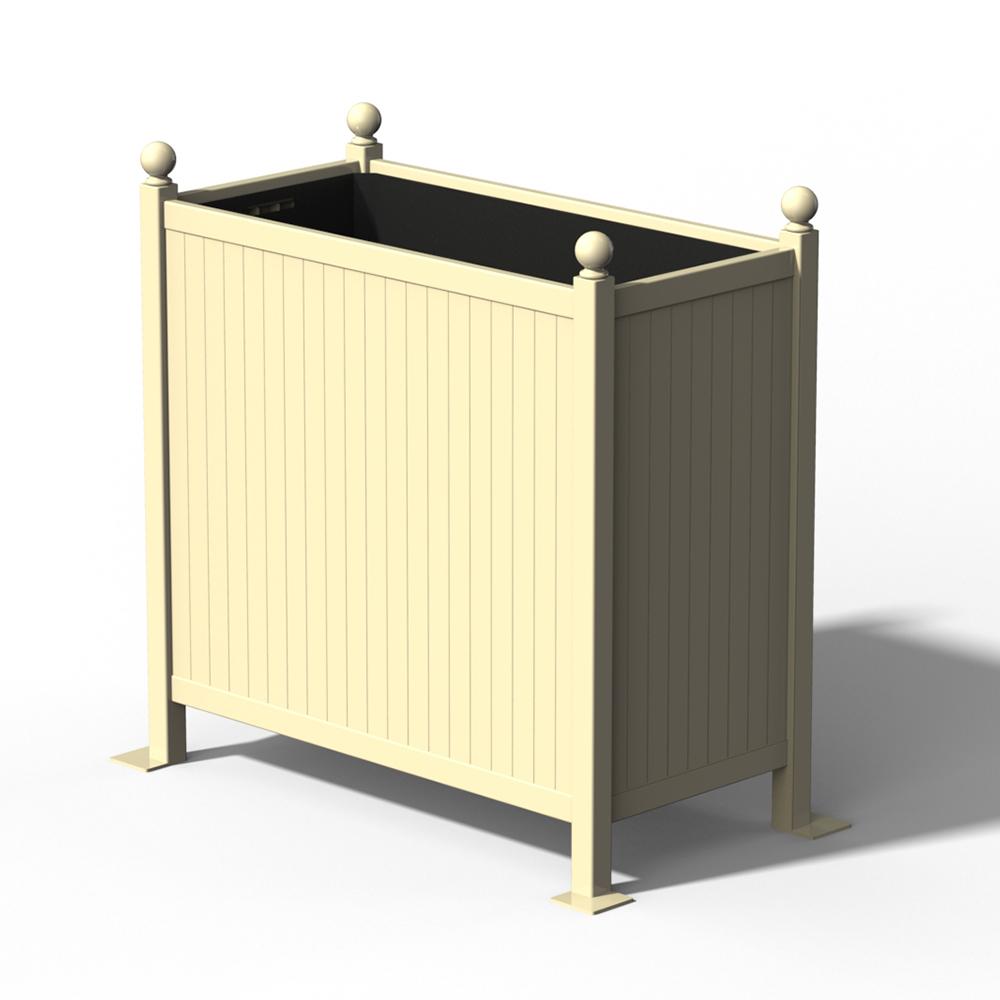 R25 Versailler Pflanzkübel Raumteiler in RAL 1015 Light Ivory