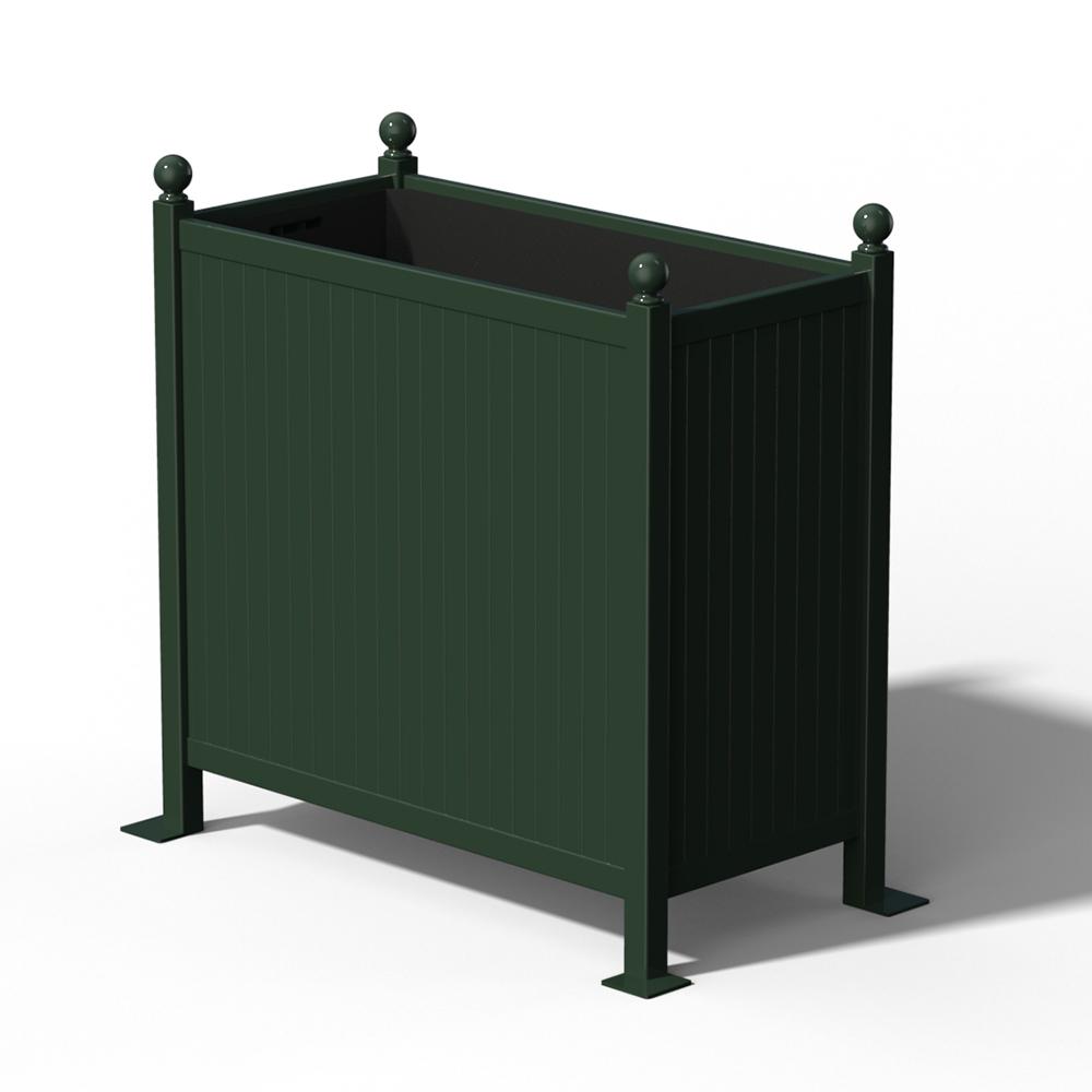 R25 Versailler Pflanzkübel Raumteiler in RAL 6012 Black Green