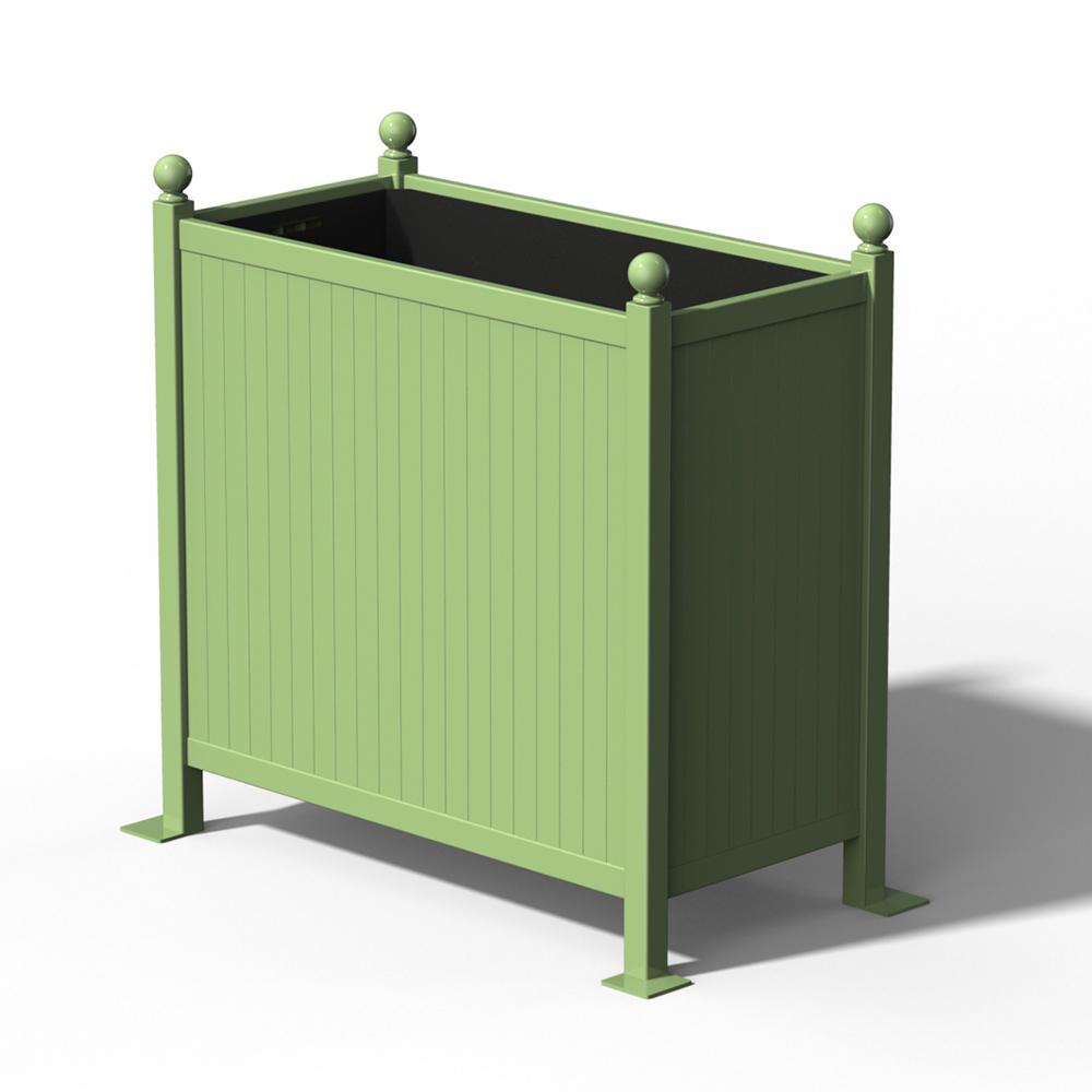 R25 Versailler Pflanzkübel Raumteiler in RAL 6021 Pale Green