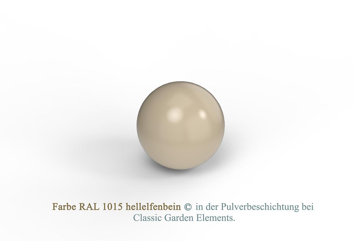 Farbe RAL 1015 hellelfenbein in der Pulverbeschichtung bei Classic Garden Elements.