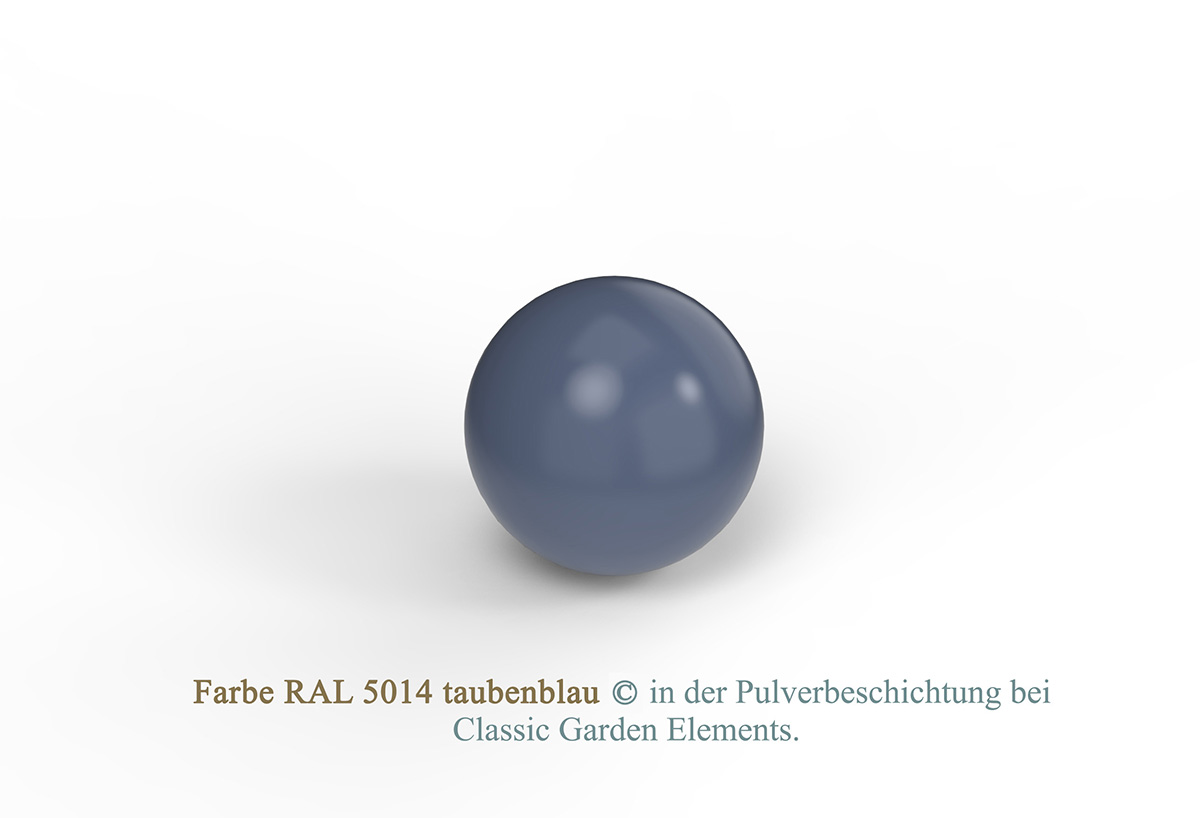 Farbe RAL 5014 taubenblau in der Pulverbeschichtung bei Classic Garden Elements.