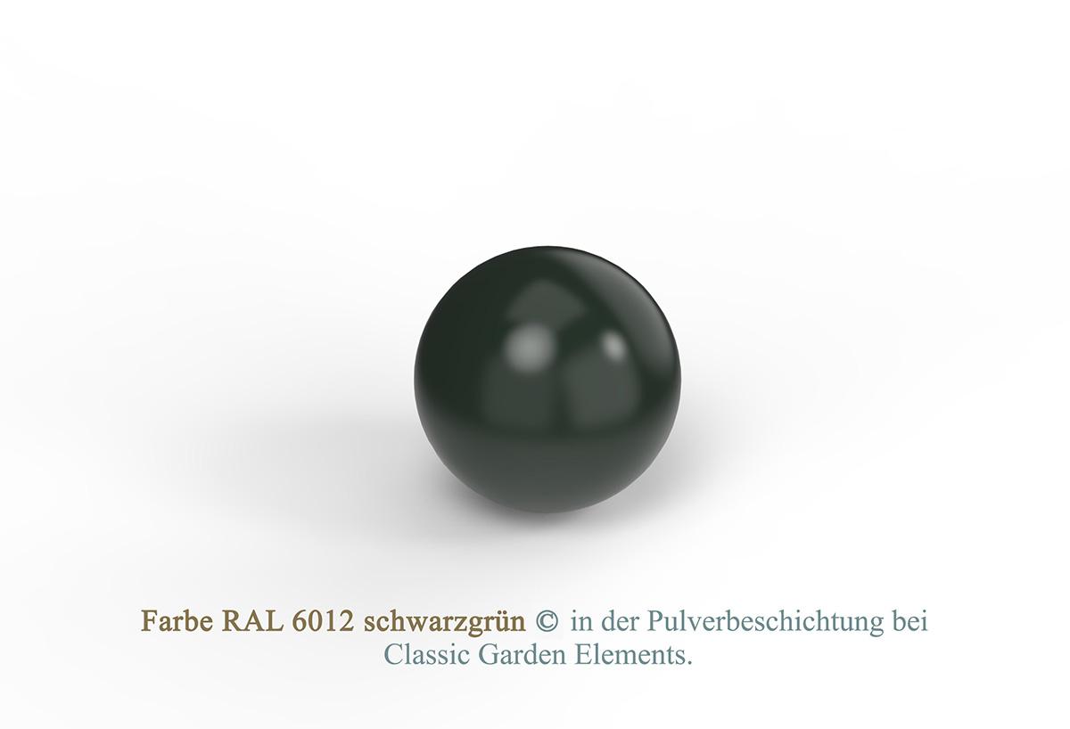 Farbe RAL 6012 schwarzgrün in der Pulverbeschichtung bei Classic Garden Elements.